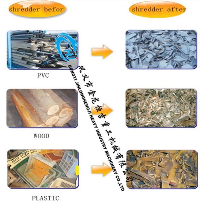 plastic waste shredding machine