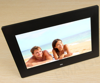 "white with Remote Control 10"" inch LED Screen Digital Picture Photo Frame"