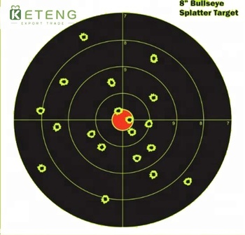Professional shiny printed splatter silhouette reactive splatter shooting targets stickers