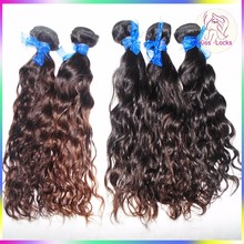 Grade 10A Hair Extensions Natural water Wave Indian 100% Human Virgin Wavy Hair Fast Shipping