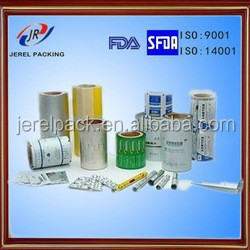 aluminum foil cover for tablets pills packaging
