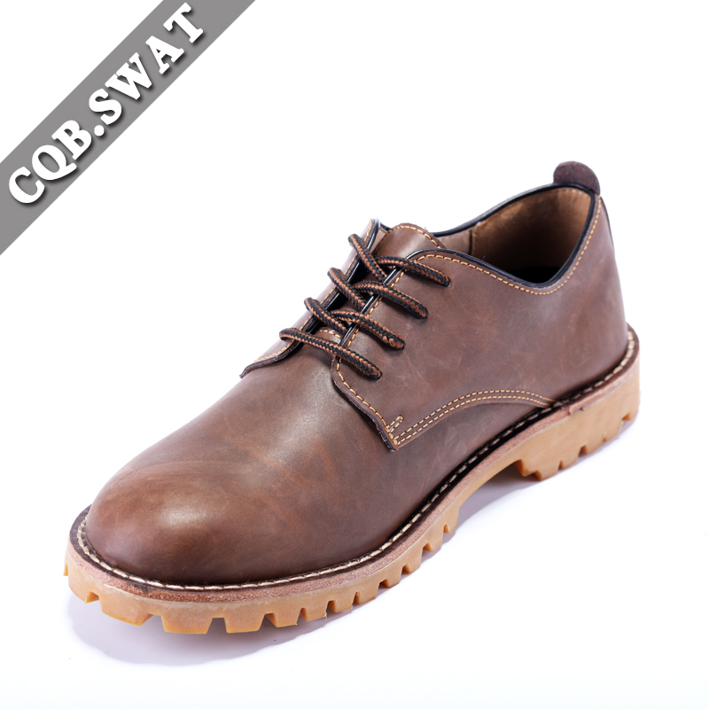 CQB.SWAT Fashion Martern Boots Riding Ankle Genuine Leather Martens Shoes