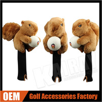Custom Made Squirre Golf Headcovers, Hight Quaity Animal Driver Golf Head Covers