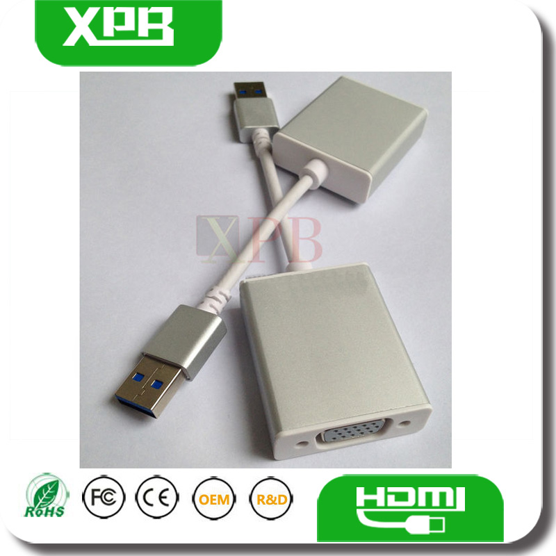 New Gold Plated USB 3.0 to VGA Display Adapter China Supplier