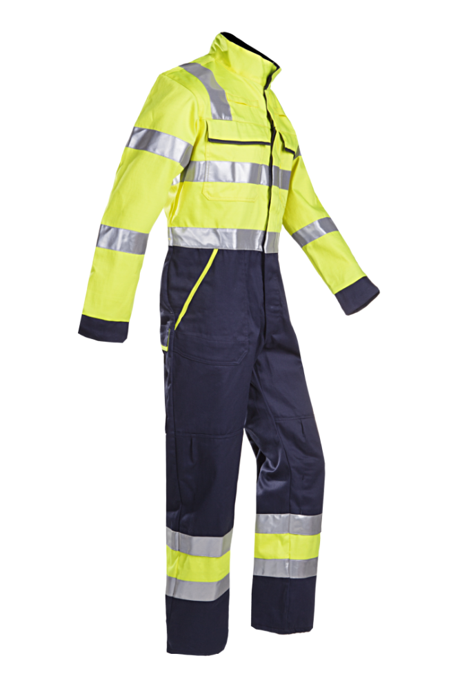 2016 100% cotton flame resistant and anti-oil safety reflective coverall used for oil company