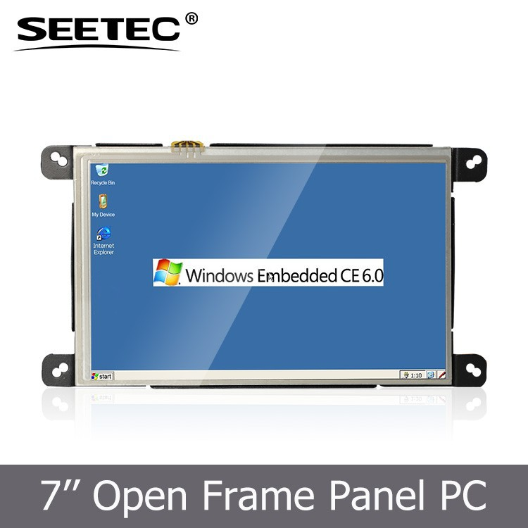 7 inch open frame embedded lcd monitor 800*480 pixels industrial display computers pc
