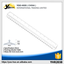 Promotional High quality Double Scale Plastic Ruler 30cm with handle