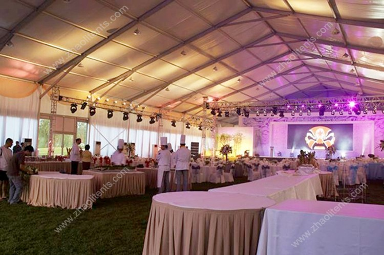 Factory price White wedding large tent for rental with luxury accessories