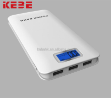 KEBE mobile power supply Portable Power Bank 12000mah 3USB output, LCD display