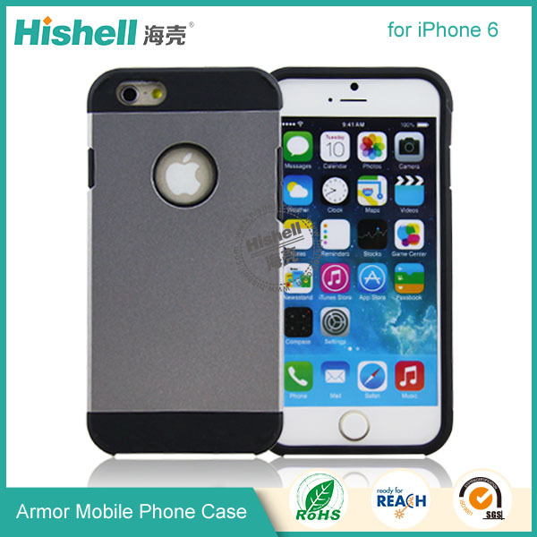 hot selling European cheap phone accessories pc+tpu armor case for iphone 6