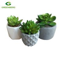 Artificial Plant with Cement Mini pot Indoor decoration