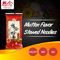 OEM ready dried soup noodles with mutton flavor seasoning bags brands