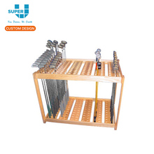 China Factory Make Custom Retail Portable Wood Golf Club Display Racks