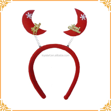 Christmas Moon Star Headband