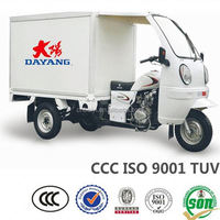 new design best selling hydraulic van cargo tricycle