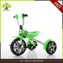 wholesale 3 big rubber wheel new children tricycle for kids folding tricycle