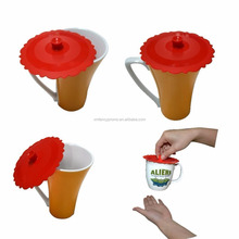 Silicone cup coffee mug lid/silicone rubber glass cup handle cover