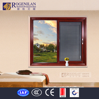 Rogenilan thermal break office interior vertical opening sliding window with 4 panels