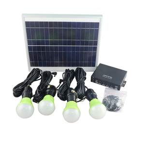 Promotion!!! Portable Solar Power System Home Lighting Kits with 4 LED Bulbs
