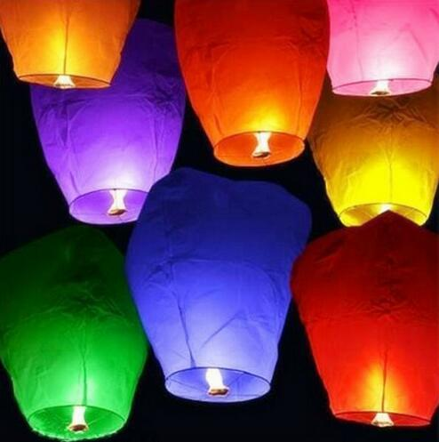 Wholesale Flying Chinese Sky Lanterns Biodegradable Paper Lanterns