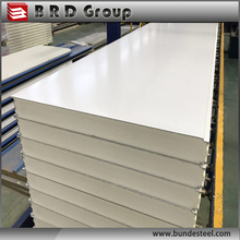China supply color steel eps and pu sandwich panel for roof and wall of building