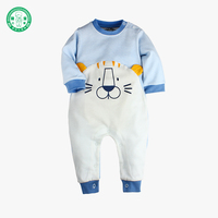 2018 Hot Selling Spring 100% Cotton Stripe Lion Pattern Baby Rompers for Newborn Baby Boy Girl