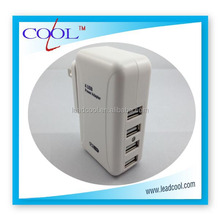 4 Port Plug USB AC Adapter Wall Travel Charger for HTC Samsung iPad iPhone