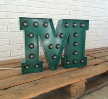 Vintage Color 3D Lighted Stainless Steel Alphabet Marquee Letters