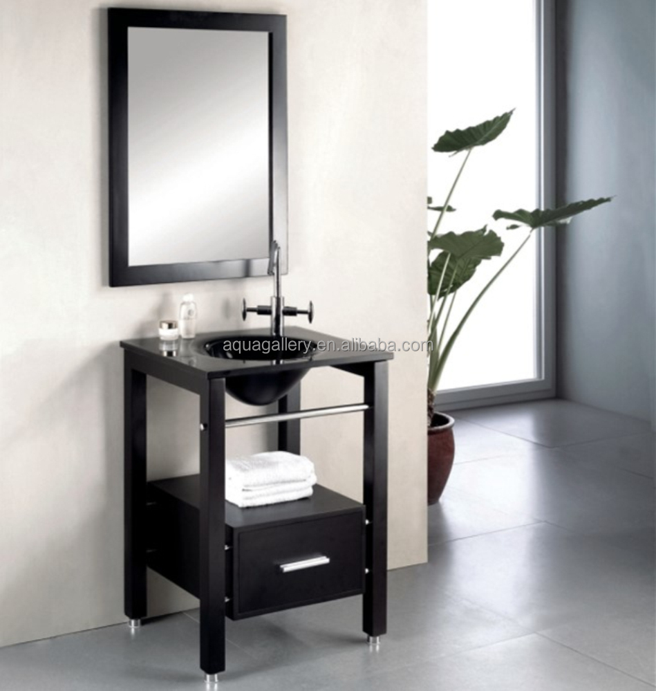 American Style Bathroom Furniture with Glass Basin