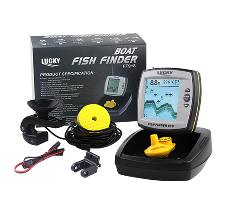 LUCKY portable fishing equipment hot sale FF918 boat fish finder for outdoor sport