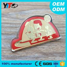 Best prices custom made epoxy metal lapel pin nameplate emblems fashion design