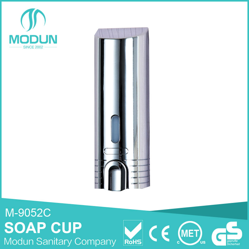 380ml wall mount abs body chrome surface liquid soap dispenser