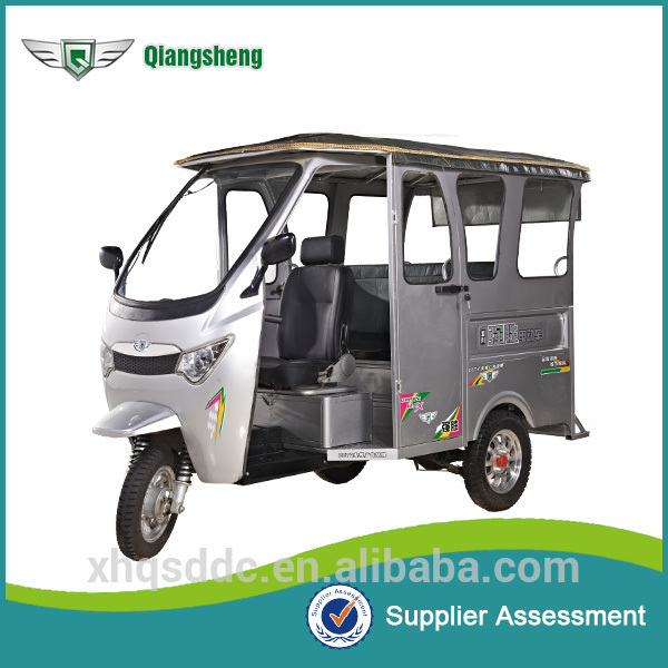 Qiangsheng battery electric auto rickshaw passenger tricycles for sale