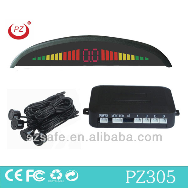 human voice car anti radar detector with 4 waterproof ultrasonic sensors and led indicator display