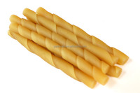 "5"" 10g-12g Dog's favorite Cheese Flavor Tartar Removal Rawhide Free Twist Stick Natural Dog Food"