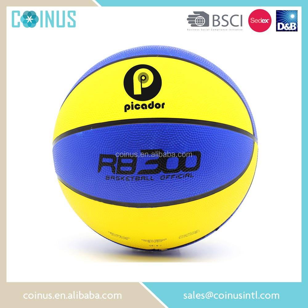 customize your own basketball official size 7 rubber basketball