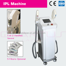 IPL+RF functional beauty machine to remove wrinkle, acne, pore, veins, blood vessels and body hair