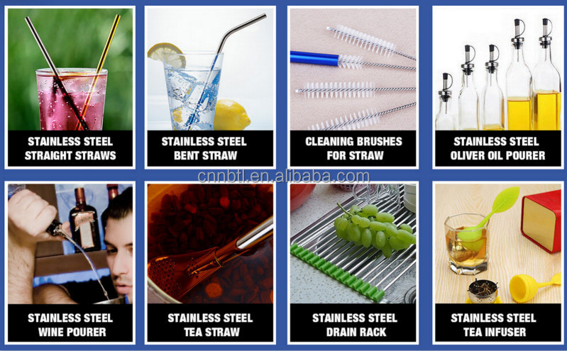 Nylon cleaning brush for straws cleaner