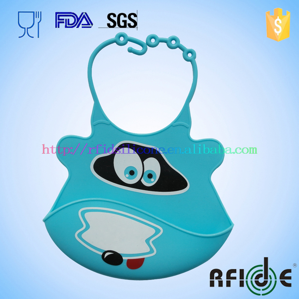 Premium Waterproof Silicone Bibs - So SOFT Your Baby Will Love Its Comfort | Rolls Up, Cleans & Dries Fast | With WIDE Food Catc