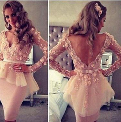 2016 Walson fashion dress pink lace backless online shopping women dresses one piece girls party dresses