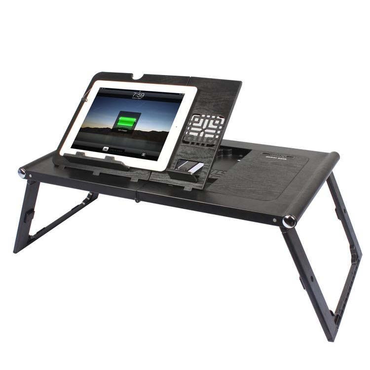 New Design Portable Folding Bed Study Table Laptop Table with LED Light