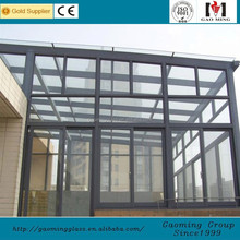 Decorative Glass Polycarbonate Sunroom /Winter Garden from China GM-ZS020