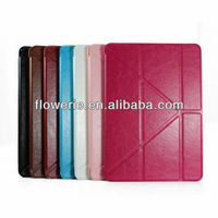 FL3332 2014 high quality stand genuine leather wallet case for apple ipad air 5