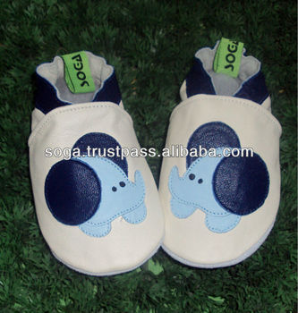 Latest soft sole baby shoes with leather
