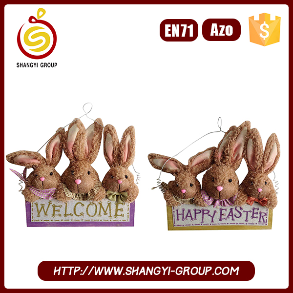 2017 hot selling hanging unique easter decorations bunny doll