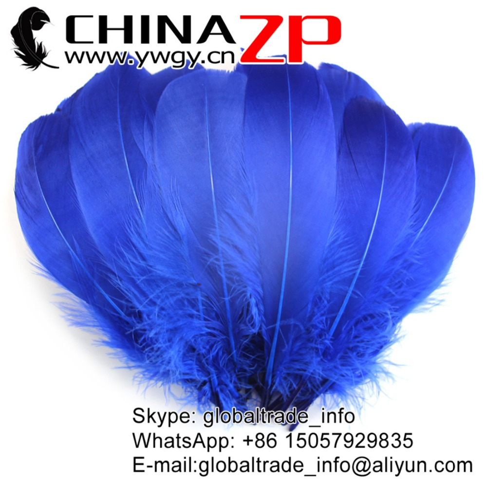 ZPDECOR Wholesale Dyed Royal Blue Costume Goose Feather for Angel Wing