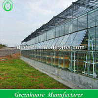 large glass agricultural greenhouses