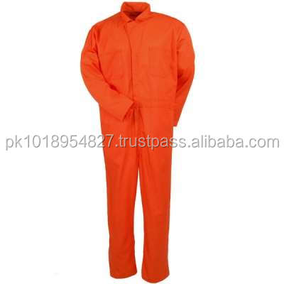 Dark Orange Color Cotton/polyester men adult jumpsuit for work