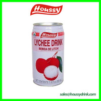 2016 new products Houssy canned lychee fruit juice