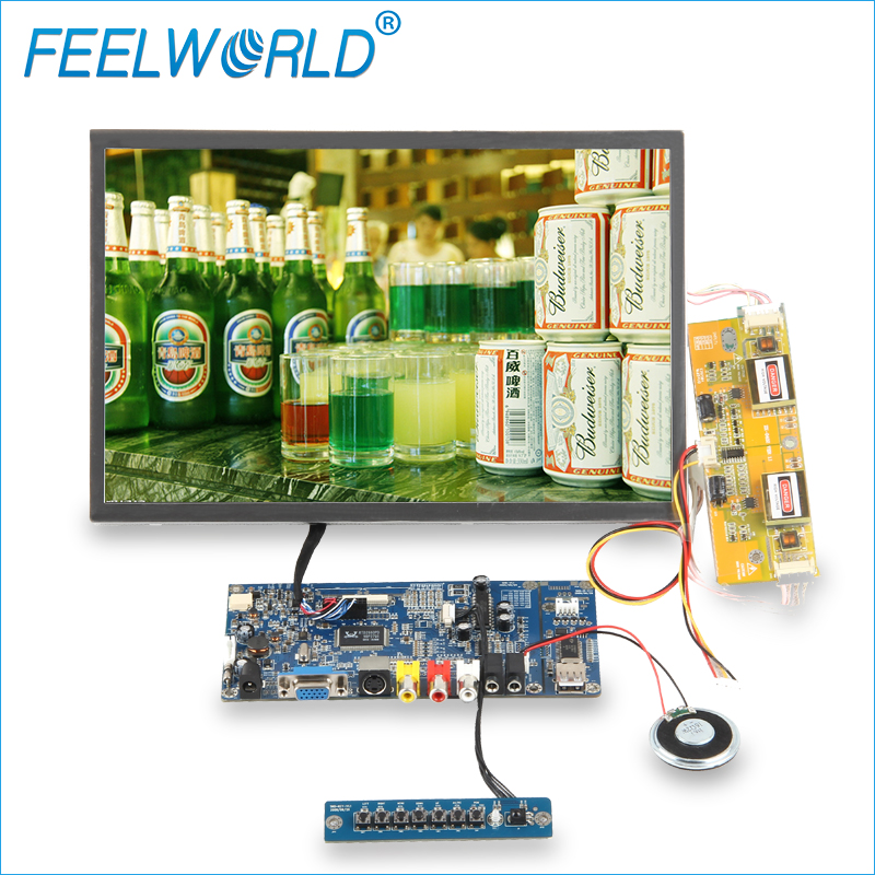 FEELWORLD 12'' HDMI VGA industrial lcd monitor raspberry pi 3 display touchscreen